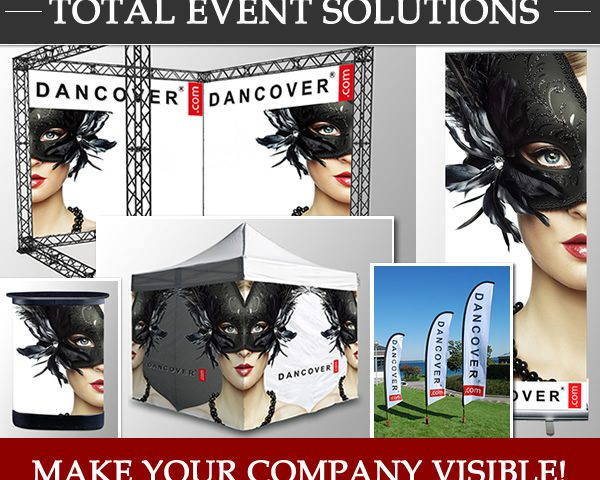 Total event solutions. Make your company visibile