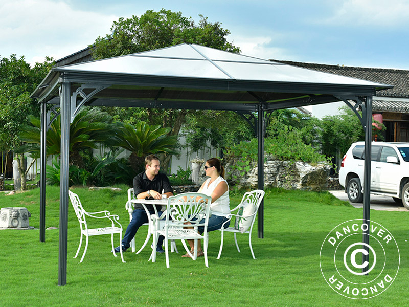 Garden gazebos in maintenance free materials