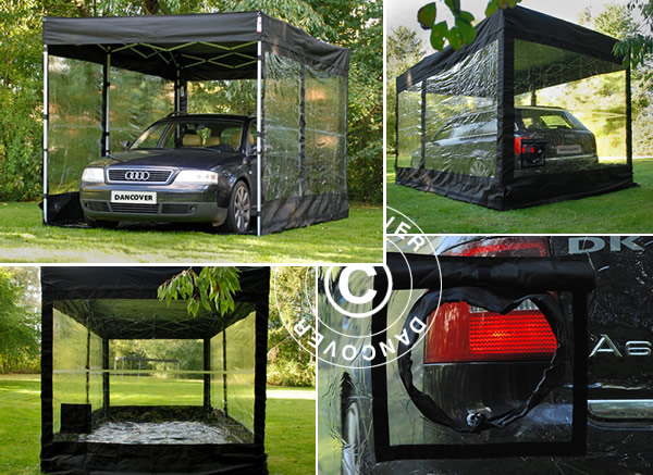 Elegant car cover and storage