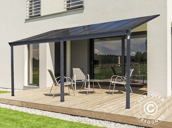 Patio covers in lightweight materials
