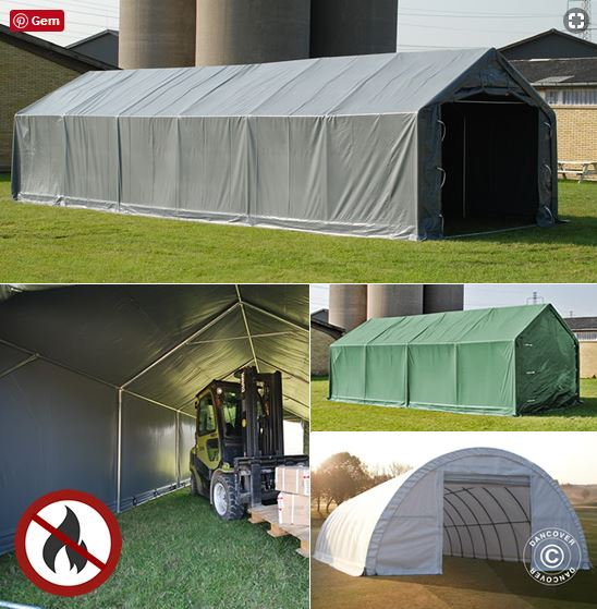 Storage tents and shelters