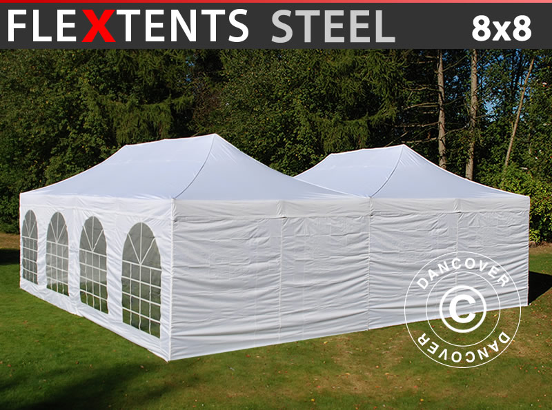 Flextents pop up gazebo 8x8 m