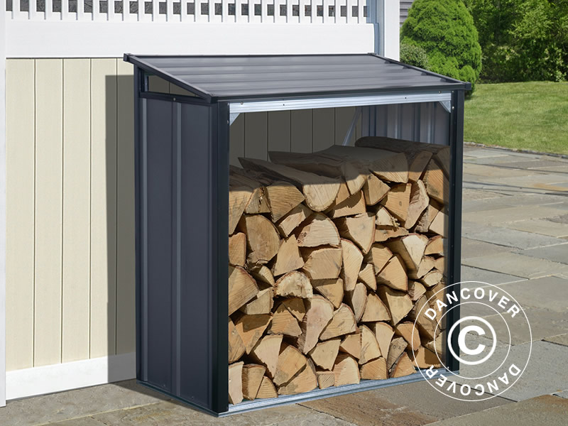 Wood storage in maintenance-free light-weight metal
