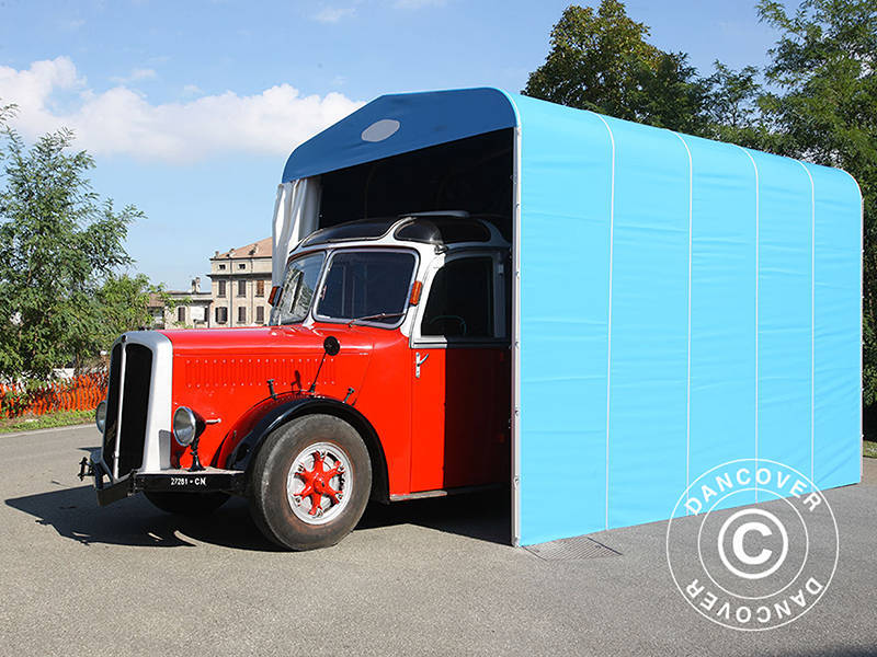 Folding tunnel garages are flexible and spacious