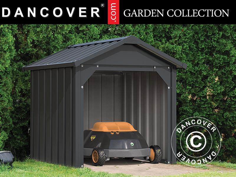 Metal garage for your robotic lawnmower