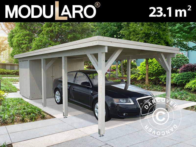 Wooden carports to protect your car and more