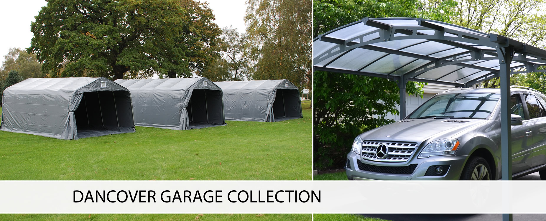 Portable garages, garage tents, folding garages, carports etc.