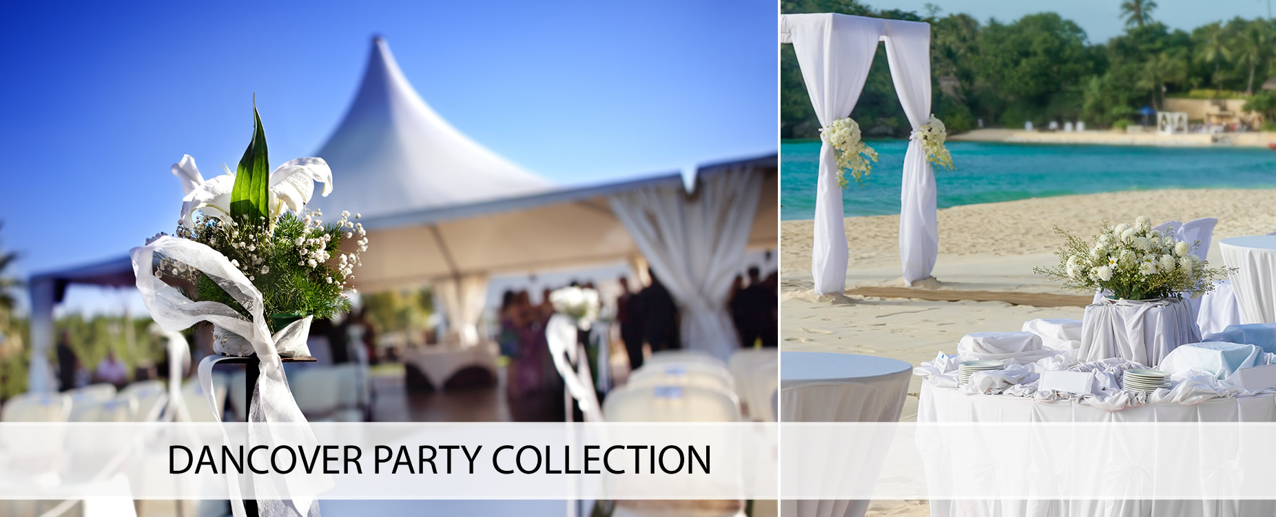 Marquees, party furniture, party accessories etc.