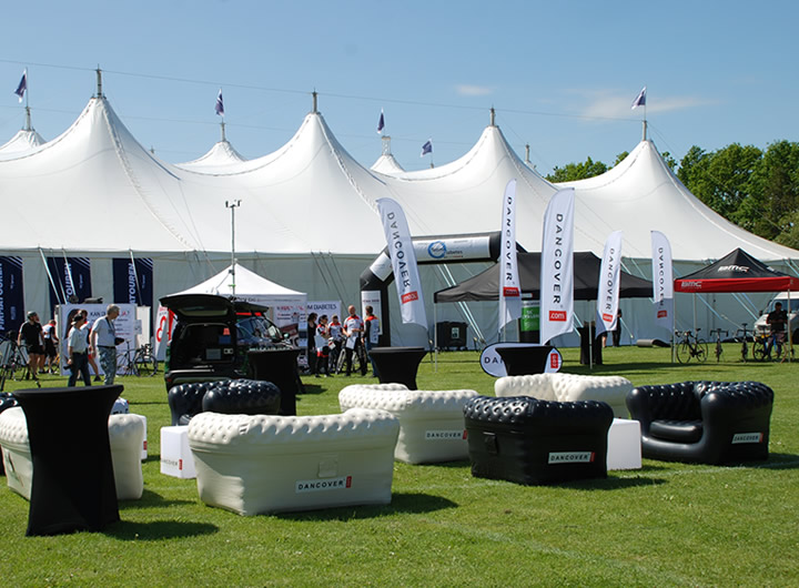 Event solutions: folding gazebos, digital print etc.